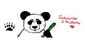 Panda drawing by yeet