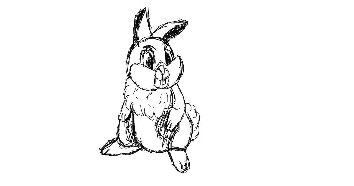 Rabbit drawing by Chartos