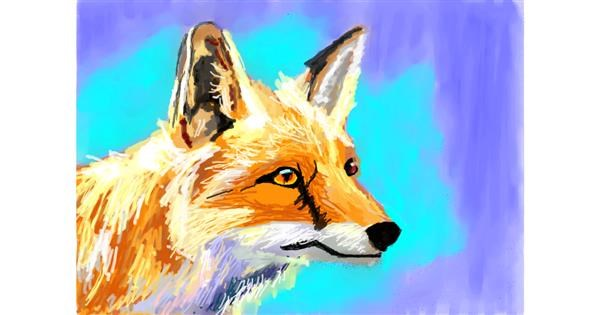 Fox drawing by 𝐓𝐎𝐏𝑅𝑂𝐴𝐶𝐻™