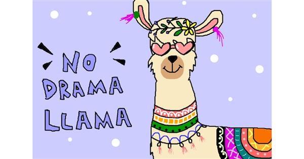 Llama drawing by InessaC