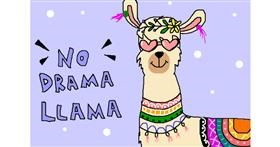 Llama drawing by InessaC