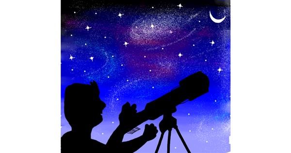 Telescope drawing by Namie