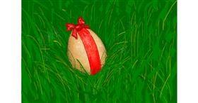 Easter egg drawing by hhhiiiihhhiii