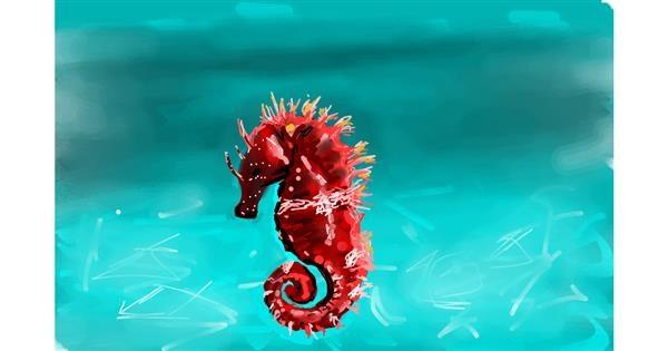 Seahorse drawing by Rose rocket