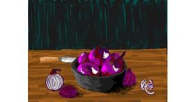 Onion drawing by Igris