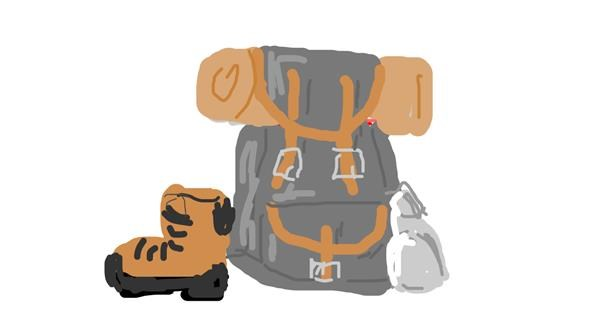 Backpack drawing by Firsttry