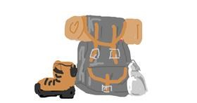 Drawing of Backpack by Firsttry