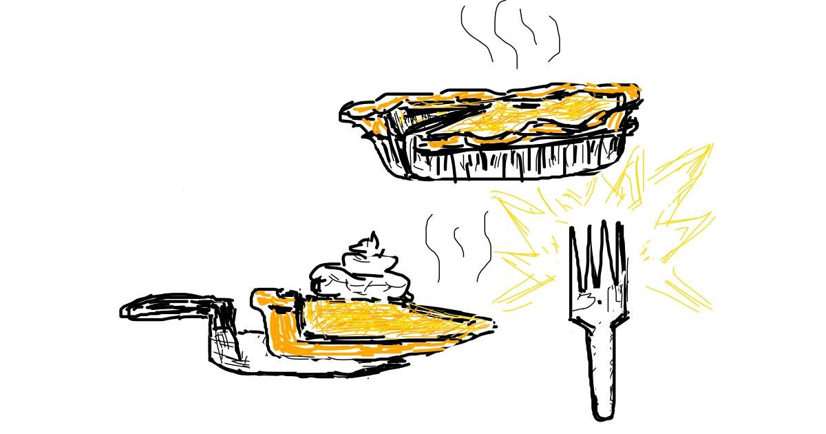 Drawing of Pie by Ms. FanCy DoLL
