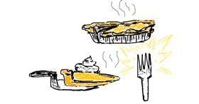 Pie drawing by Ms. FanCy DoLL