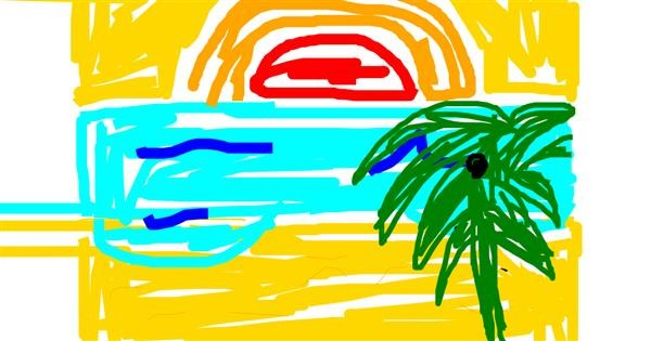 Beach drawing by Nareen