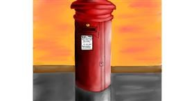 Mailbox drawing by Freny