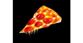 Drawing of Pizza by Kakashi