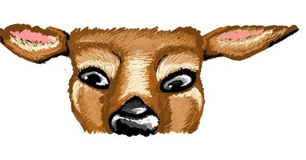 Deer drawing by Whispful
