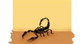 Scorpion drawing by Anonymous