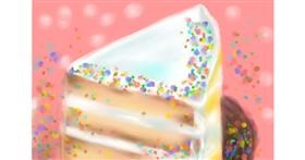 Drawing of Cake by Wizard