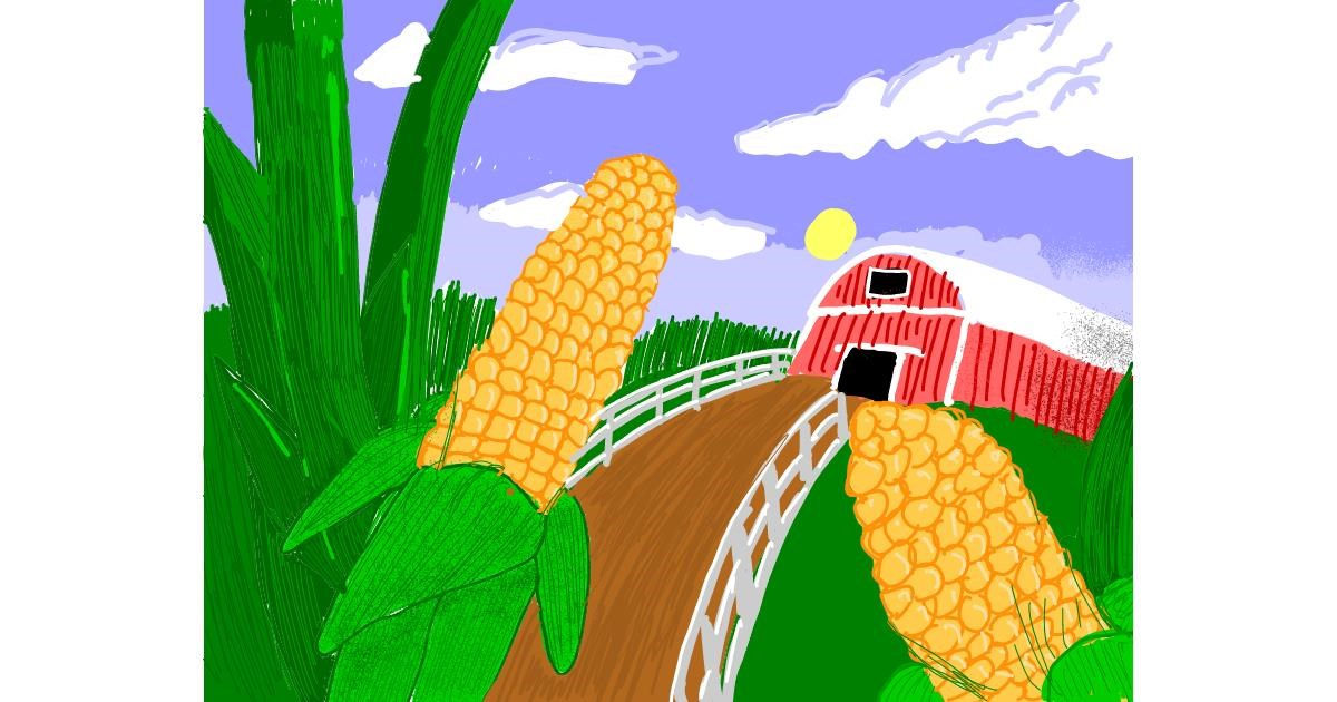Drawing of Corn by The Joker