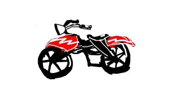 Motorbike drawing by Naphera