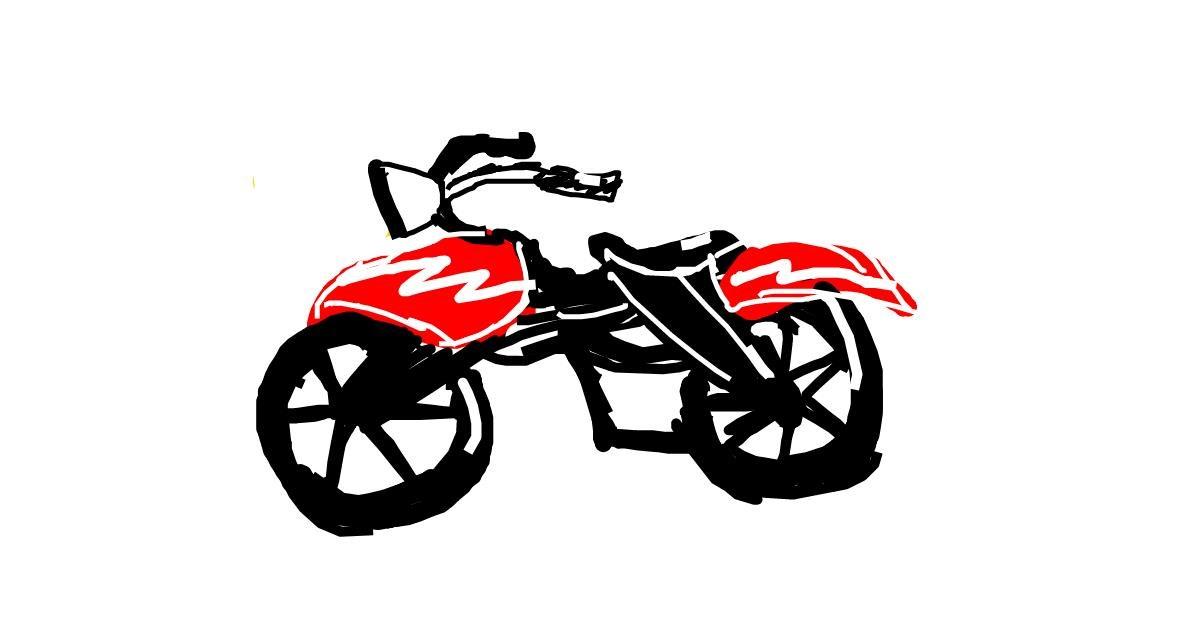 Motorbike drawing by Naphera