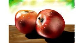 Drawing of Apple by RadiouChka