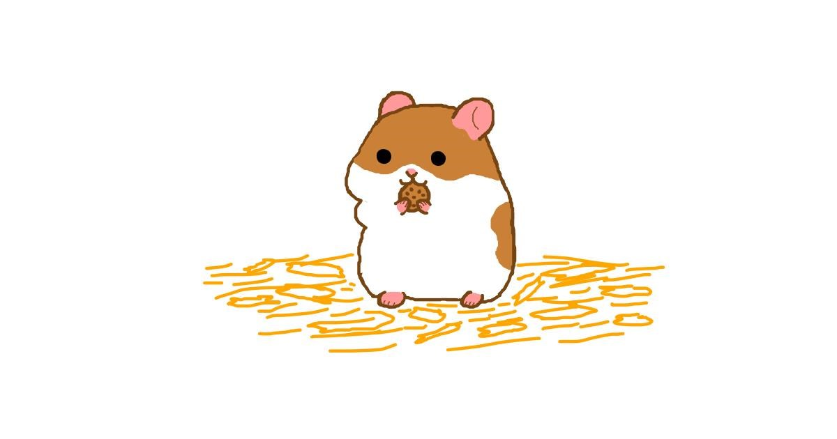 Drawing of Hamster by Otter