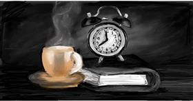 Drawing of Alarm clock by Soaring Sunshine