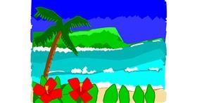 Beach drawing by MaRi