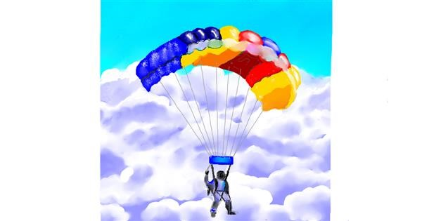 Parachute drawing by GJP
