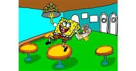 Spongebob drawing by SAM 🙄