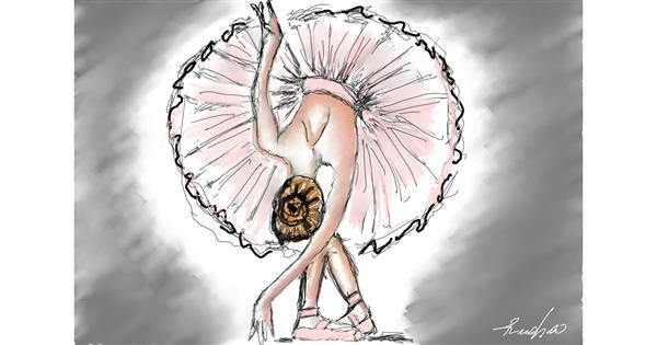 Ballerina drawing by Rush