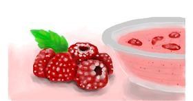 Raspberry drawing by Zi