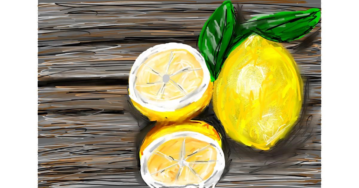 Drawing of Lemon by Soaring Sunshine