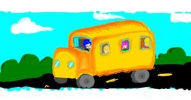 Drawing of Bus by GeomonLover