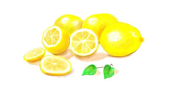 lemon drawing by GJP