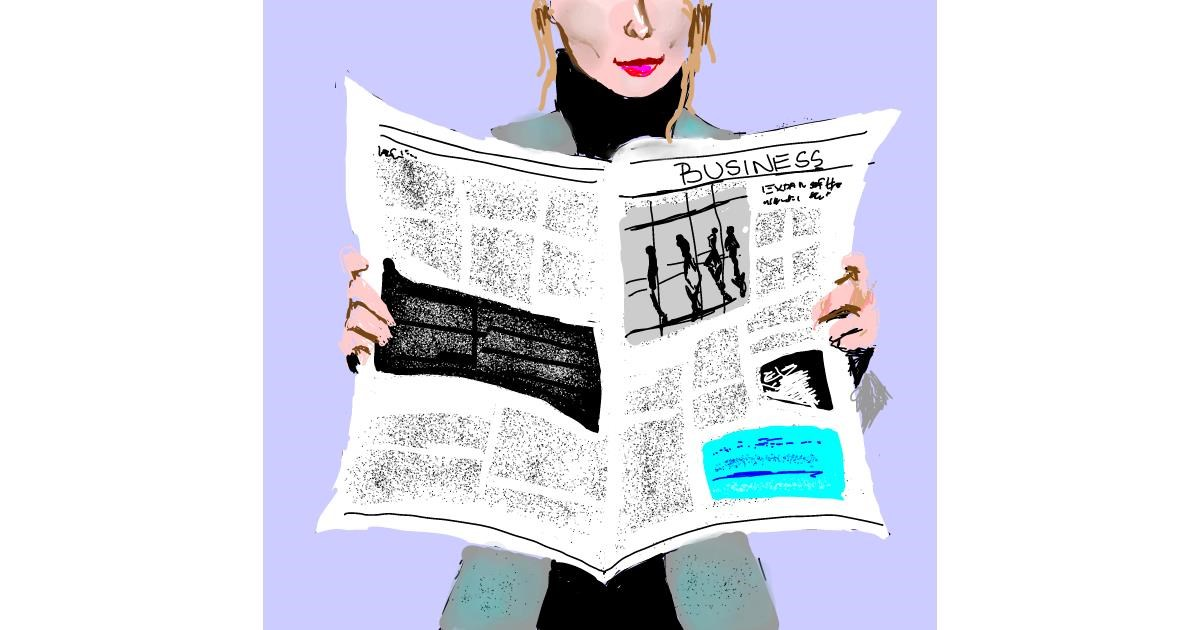 Newspaper drawing by Claria
