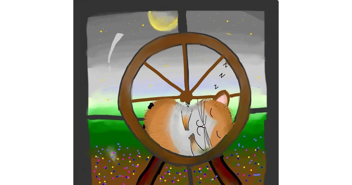 Drawing of Hamster by Zeemal