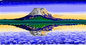 Drawing of Mountain by Mochi