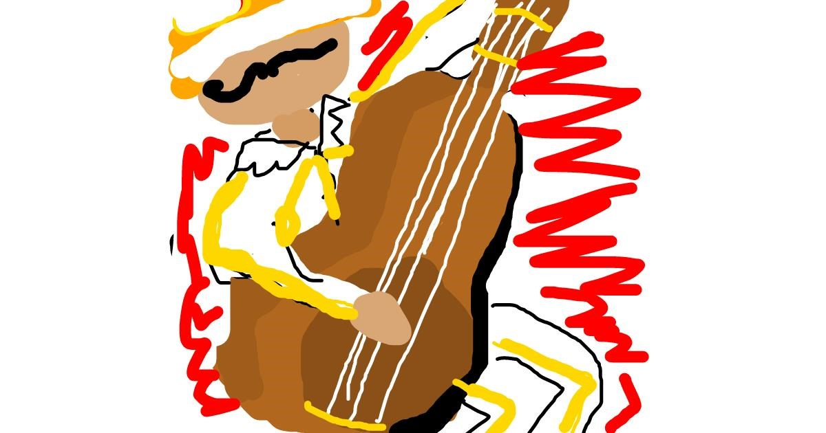 Guitar drawing by Star
