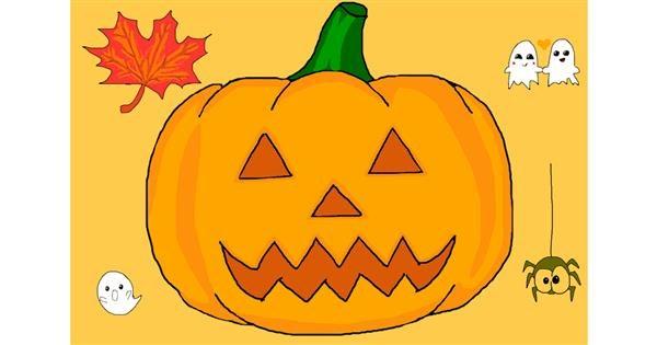 Pumpkin drawing by Kati ?! 💋