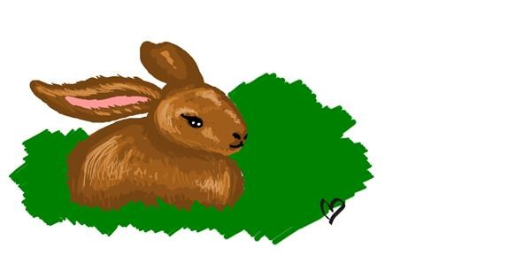 Rabbit drawing by Whispful