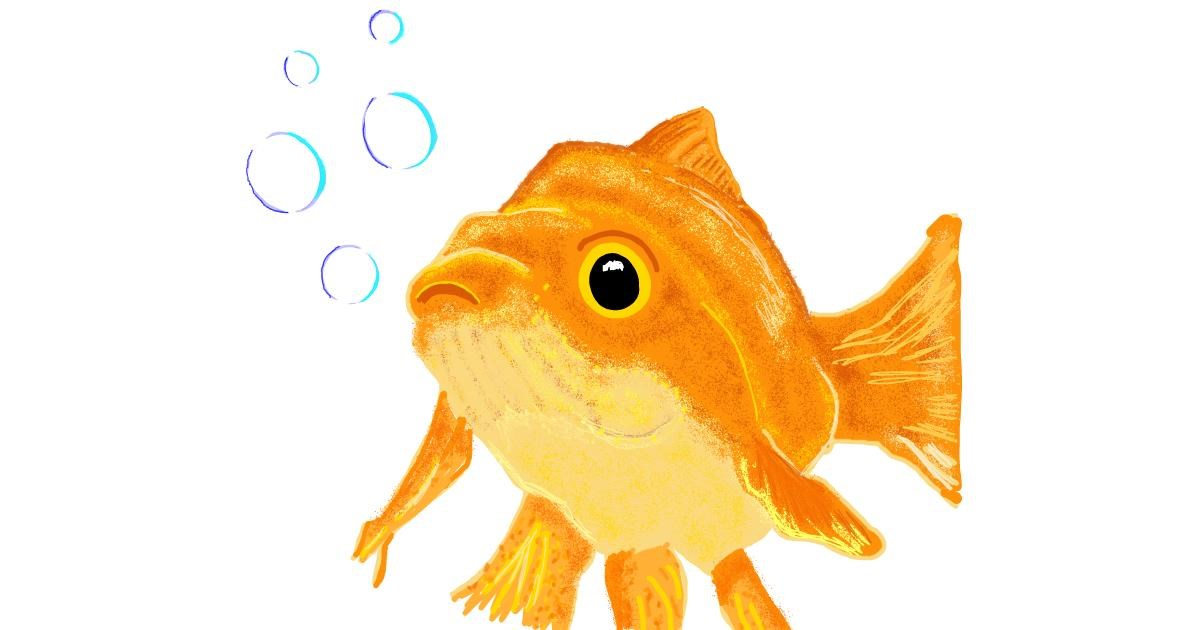 Goldfish drawing by Geo-Pebbles