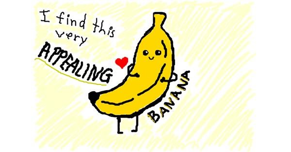 Banana drawing by Brodie22