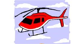 Helicopter drawing by Cherri