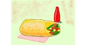 Burrito drawing by Deki