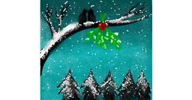Drawing of Mistletoe by Sara