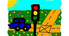 Traffic light drawing by Waezys