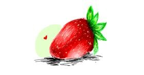 Strawberry drawing by ARMY
