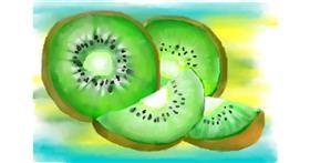 Kiwi fruit drawing by 🌏rhythm💐
