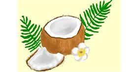 Coconut drawing by Debidolittle