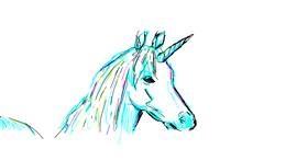 Unicorn drawing by OwO07