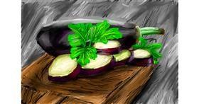 Eggplant drawing by Soaring Sunshine